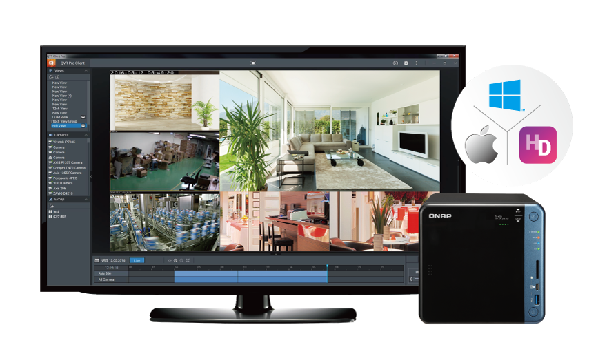 QVR Pro, central de vídeo vigilância