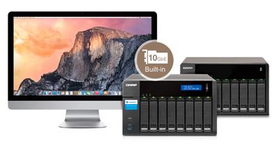 4 modos diferentes de conexão para o storage Thunderbolt TVS-871T