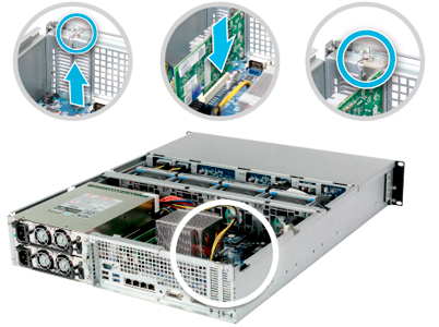 4 portas LAN 10GbE e SATA III 6Gb/s