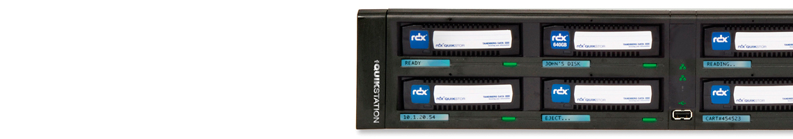 8 Drives RDX de rack - Gerenciável