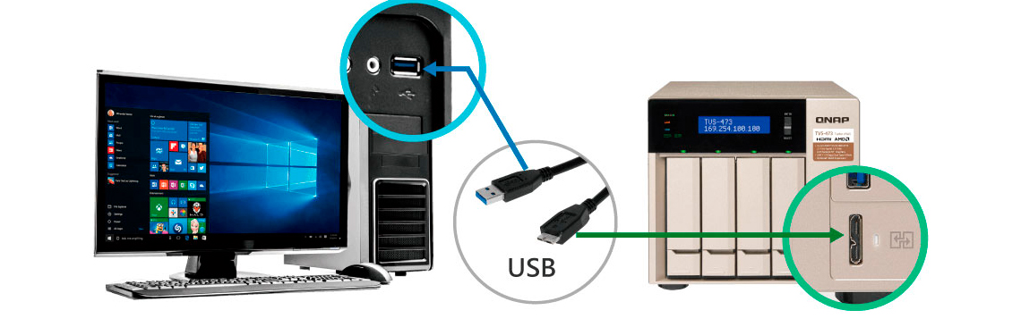Acesso direto aos arquivos via USB QuickAccess