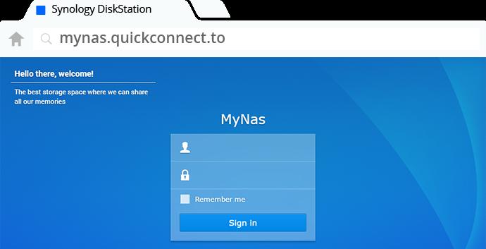 Acesso remoto de dados via QuickConnect