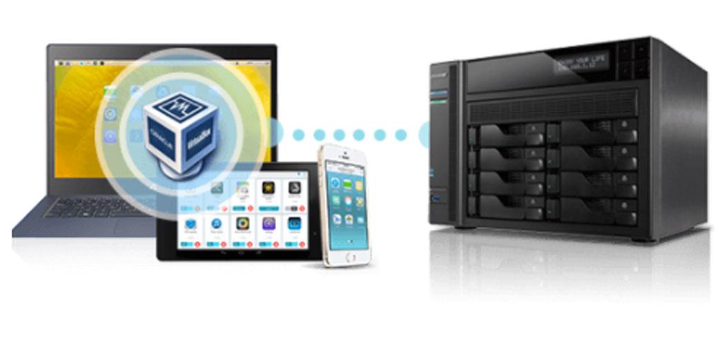 Ambientes de virtualização compatíveis com o AS6208T