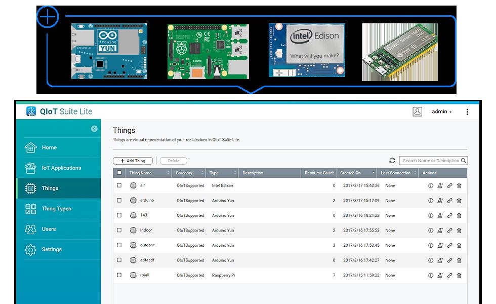 QIoT Suite Lite, criação e download de apps IoT