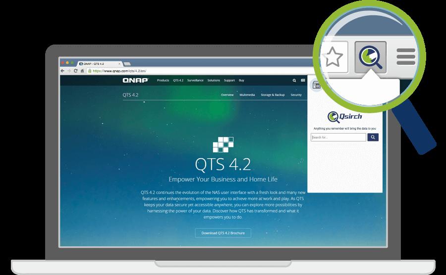 Arquivos localizados em instantes com Qsirch