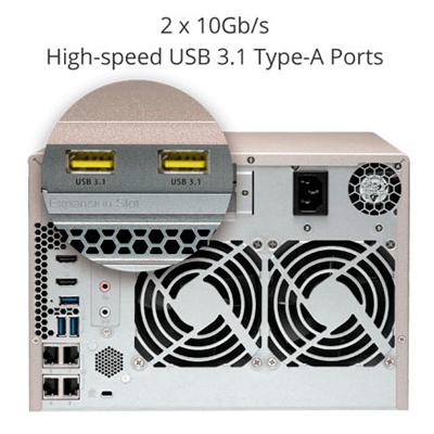 Backup via USB3.1 (10 Gbps)