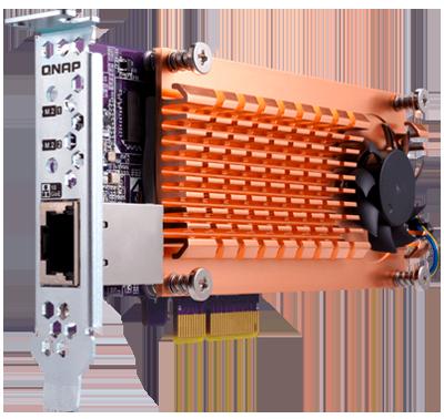 Cache SSD e conexão 10GbE através da placa QM2
