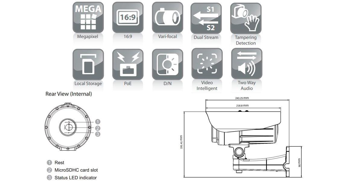 Câmera IP Surveon CAM3260