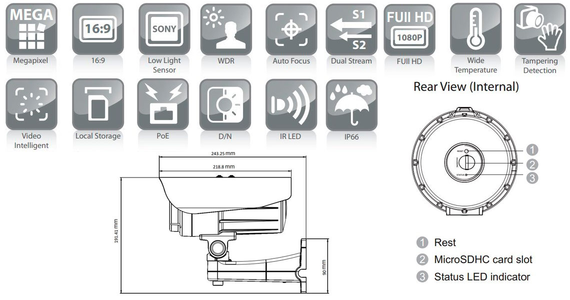 Câmera IP Surveon CAM3365