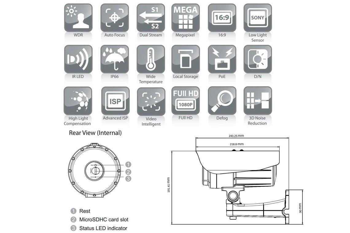Câmera IP Surveon CAM3371