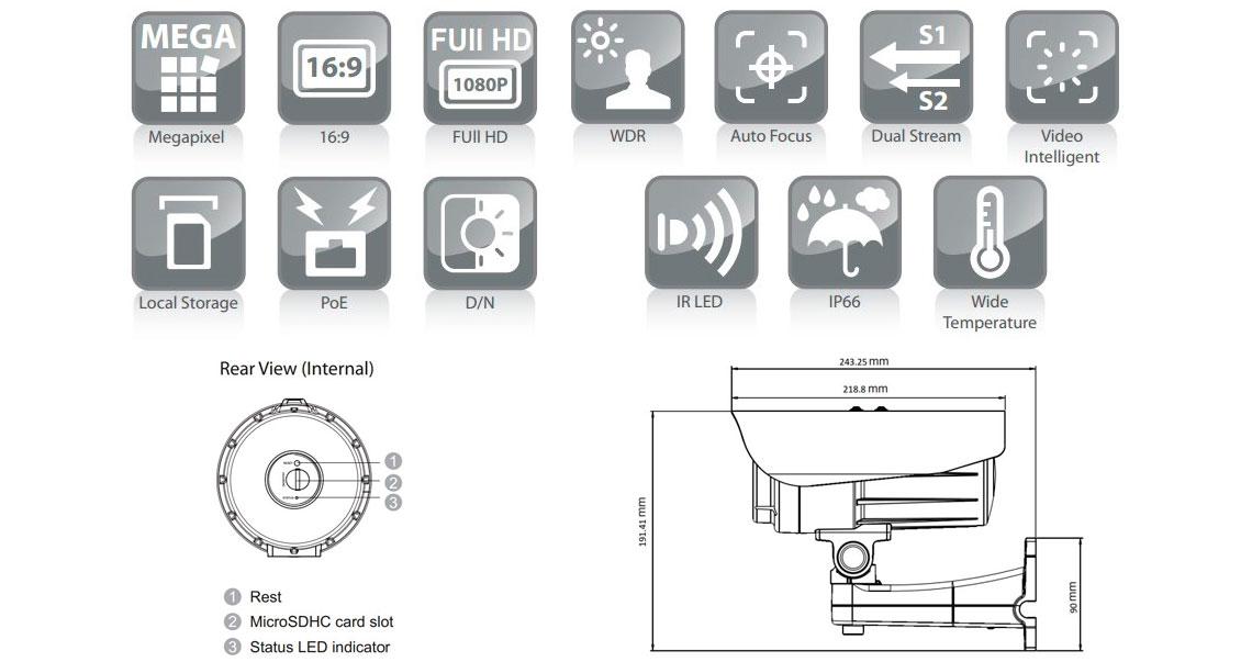 Câmera IP Surveon CAM3571