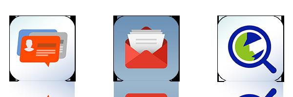 Gerenciamento centralizado de e-mails e contatos