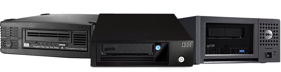 Compatível com unidades de backup HP, Dell e IBM
