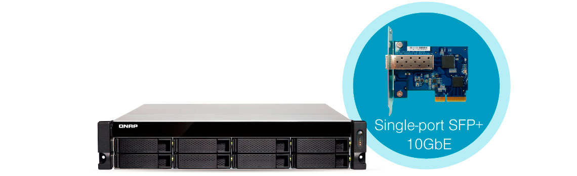 Conectividade 10GbE integrada no storage rack 32TB TS-863U-RP