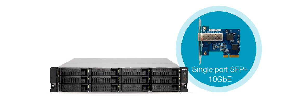 Conectividade 10GbE integrada no storage rack 60TB TS-1263U-RP
