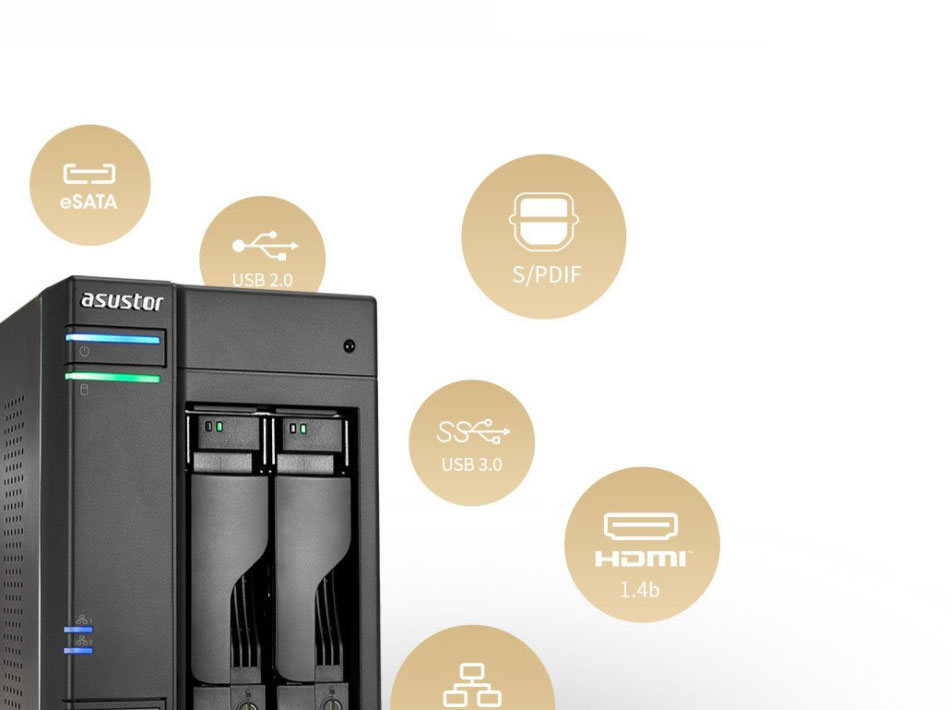 Um storage 2 Bay com conectividade multiplataforma