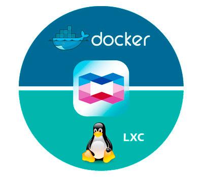 Container Station, Integração LXC e Docker