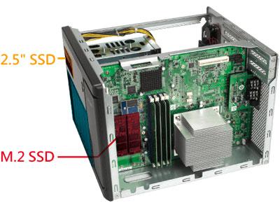 Desempenho elevado com tiering e cache SSD