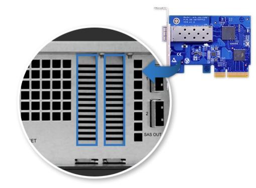 Discos SAS e SATA III 6Gb/s e LAN 10Gbe