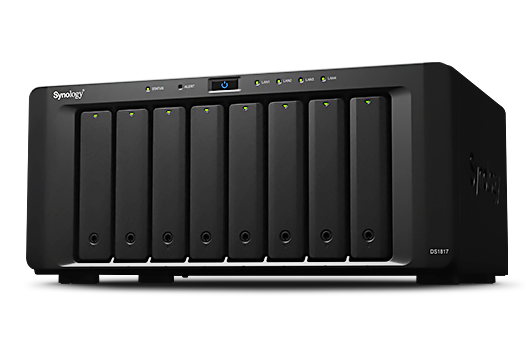 DS1817 Synology DiskStation,  storage NAS 80TB expansível até 180TB