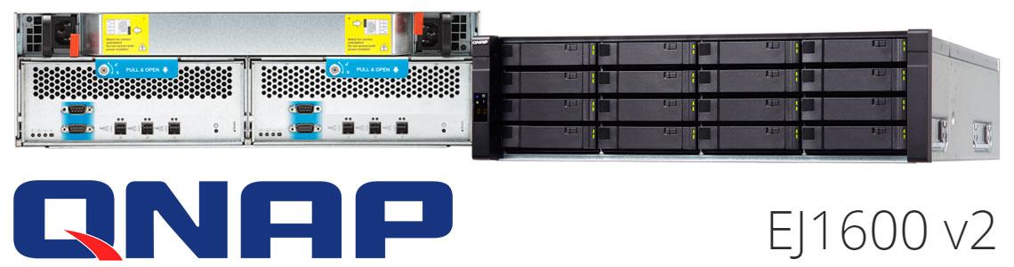 EJ1600 v2 Qnap, gabinete de expansão SAS 12Gb/s para NAS Enterprise ZFS