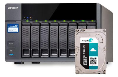 Enterprise Seagate SATA 4TB, HD ideal para storages NAS