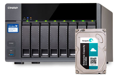 Enterprise Seagate SATA 5TB, HD ideal para storages NAS