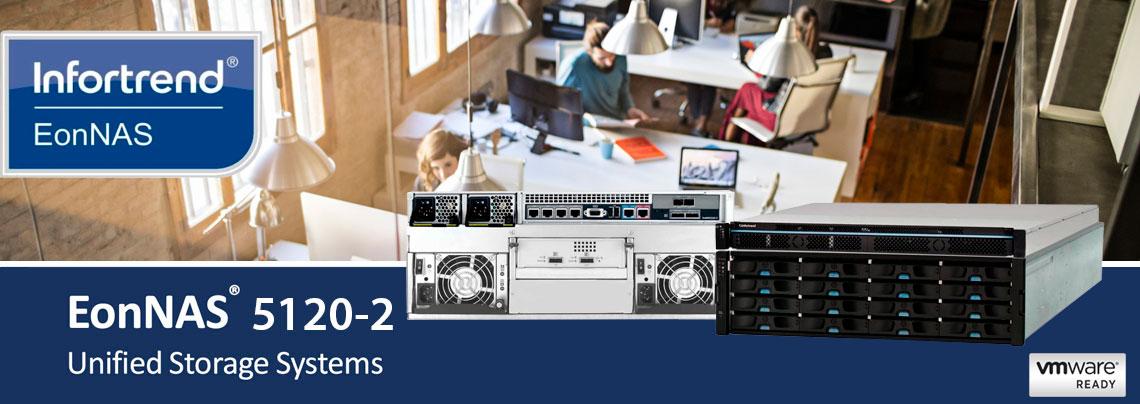 EonNAS 5120-2, storage 10GbE ideal para uso corporativo