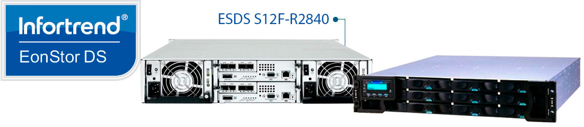 EonStor DS S12F-R2840 Infortrend, storage Fibre Channel com 12 baias hot-swappable