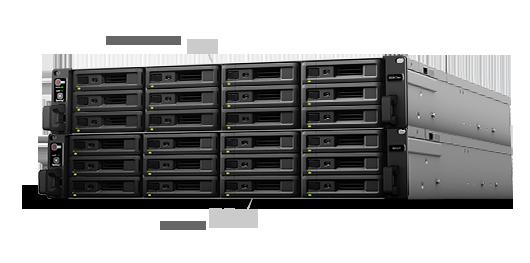 Escalabilidade com unidades de expansão de 24 discos