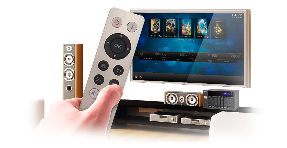 Experiência audiovisual melhorada com o storage TS-853A