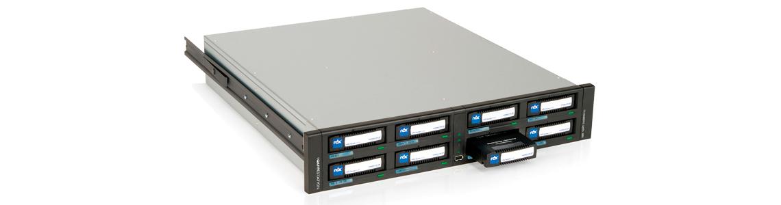 Flexibilidade de configuração - RDX 8 Drives