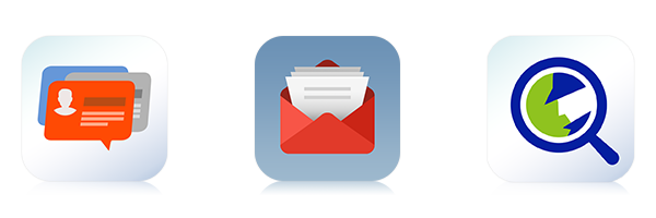E-mail centralizado e gerenciamento de contatos