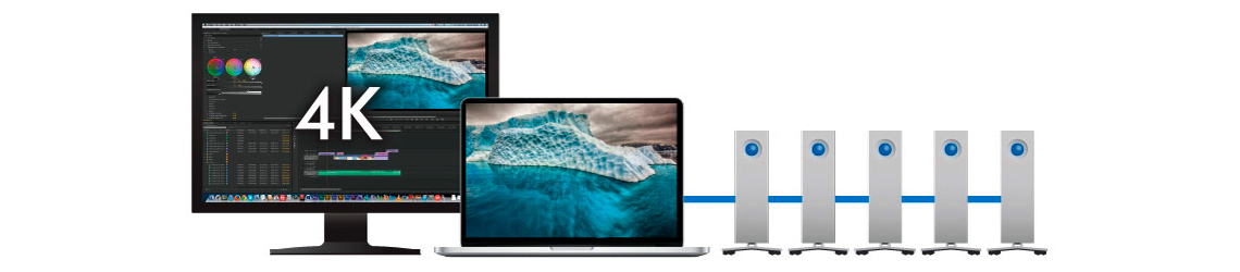 HD Externo 3TB d2 Thunderbolt 2 - Versatilidade para ambientes profissionais