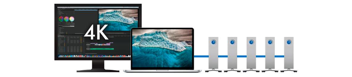 HD Externo LaCie 4TB d2 Thunderbolt 2 USB 3.0 - Versatilidade para ambientes profissionais