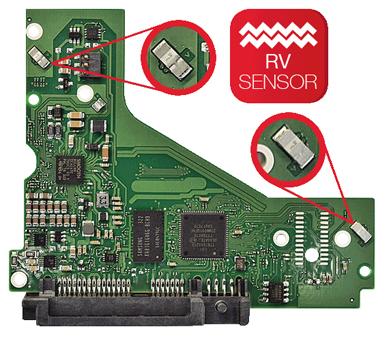 HD SATA 6TB com sensores de vibração para uso em NAS
