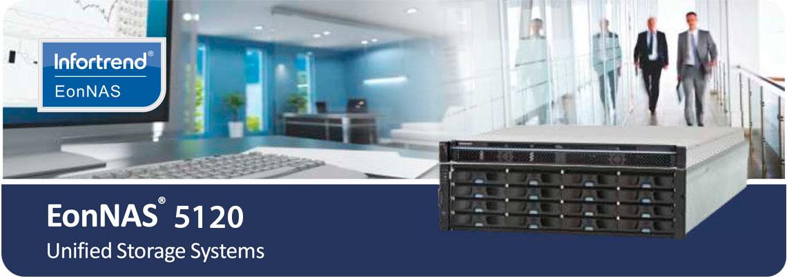 Infortrend EonNAS 5120, storage ideal para aplicações corporativas