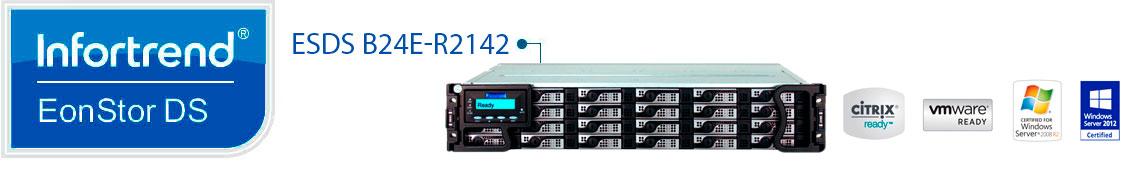 Infortrend EonStor DS B24E-R2142, servidor com 24 baias 2,5