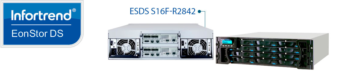 Infortrend EonStor DS S16F-R2842, storage fibre channel e iSCSI