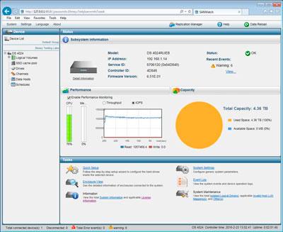 Infortrend ESDS B24E-R2142, gerenciamento de armazenamento intuitivo
