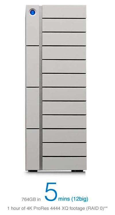 LaCie 12big 72TB – Eficiente, prático e veloz