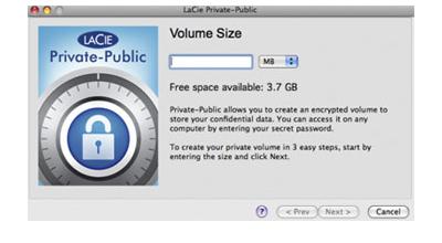 LaCie Private-Public, criptografia e segurança para os dados