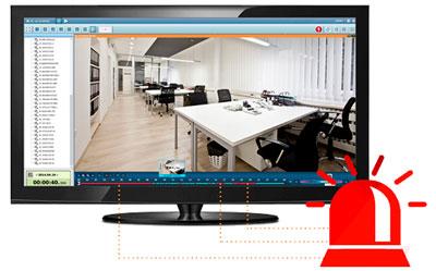 Localize gravações de ações suspeitas de forma simples no NVR VS-4116 Pro+