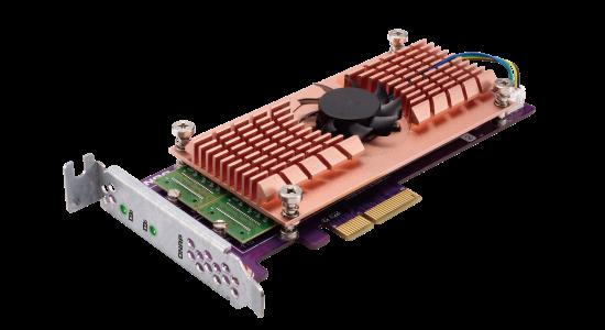 Placa de expansão QM2 para cache SSD e conectividade 10GbE