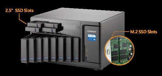TVS-1282T3, melhor desempenho do sistema com aceleração em cache SSD