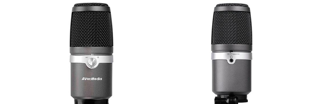 Microfone USB com controle de áudio facilitado