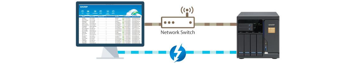 Modo NAS Thunderbolt/Ethernet