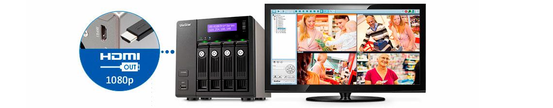 Monitoramento sem PC via HDMI - NVR VioStor VS-4108 Pro+