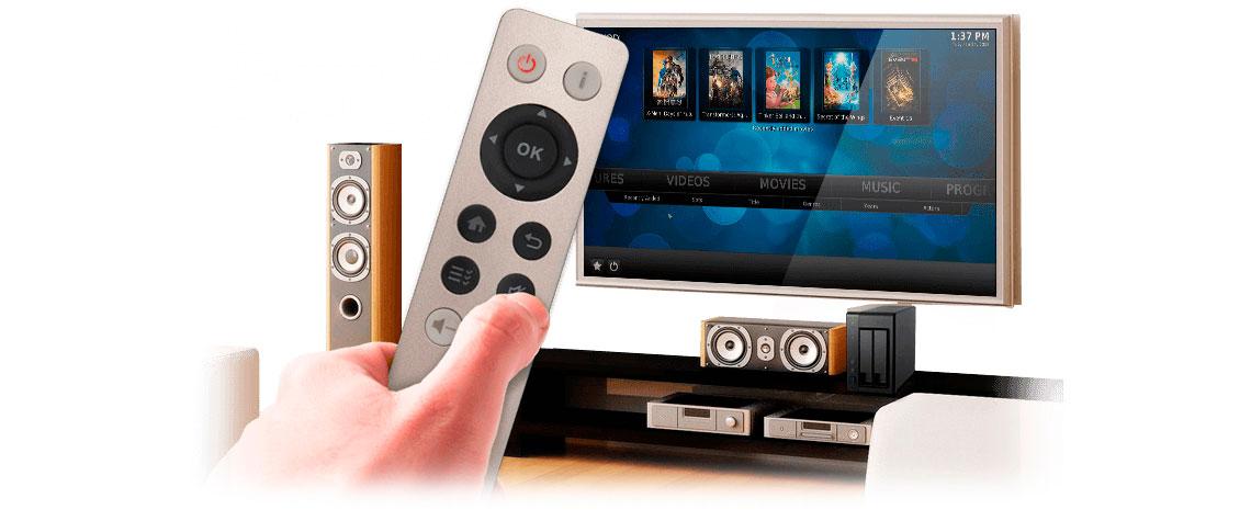 Multimídia center HDMI com controle remoto