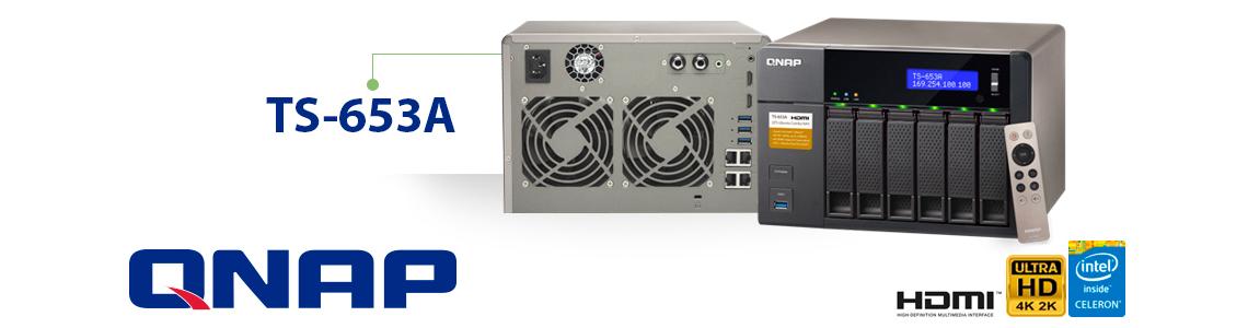 NAS 6 baias 30TB ideal para reprodução de vídeo 4K